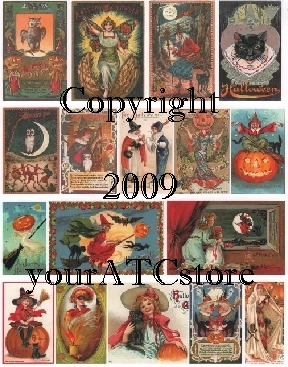 yourATCstore Halloween #2 Collage Sheet