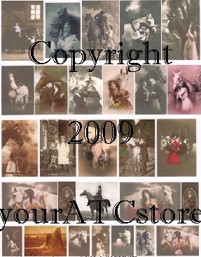 yourATCstore A Horse, Of Course Collage Sheet
