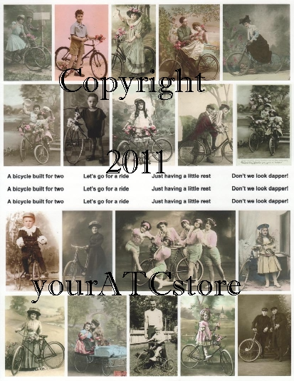 yourATCstore Let's Ride Bikes Collage Sheet