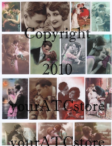 yourATCstore Love & Romance Valentine Collage Sheet