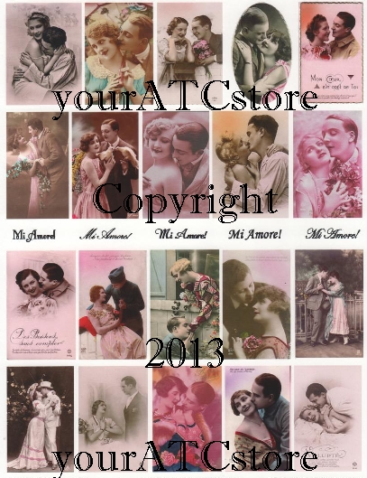 yourATCstore Valentine Mi Amore My Love Collage Sheet #1