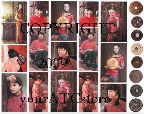 yourATCstore Oriental Shades of Red Collage Sheet