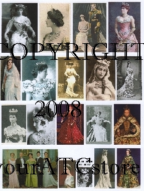 yourATCstore Queens and Crowns Collage Sheet #1