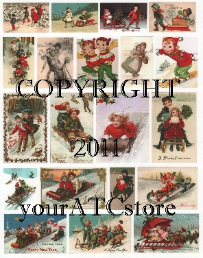 yourATCstore Snow Fun 3 Collage Sheet