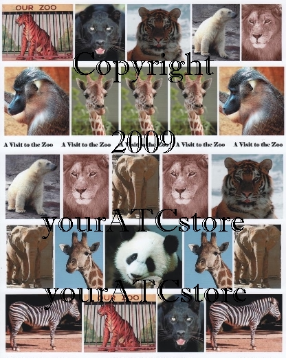 yourATCstore A Visit to the Zoo Collage Sheet